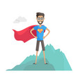 superhero daddy in superhero costume vector image vector image