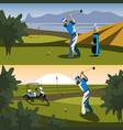 the golfer will hit the ball towards the hole vector image vector image