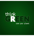 think green background 1 vector image
