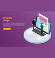ui and ux user interface and user experience vector image
