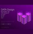 ui neon isometric stock background eps 10 vector image vector image