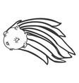 meteor shooting star vector image