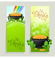 Set of St Patricks Day Cards vector image