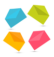 Colorful Paper Envelope Icons Set Isolated on vector image