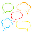 Colorful ink speech bubble vector image