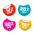 10 off 20 off 30 off 40 off Stickers Labels vector image vector image
