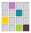 abstract square color vector image vector image