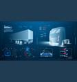 autonomous smart truck unmanned vehicles vector image