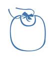 Baby bib blue vector image vector image