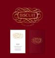 bisquit logo bakery logo cake bread logo vector image