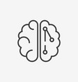 brain and artificial intelligence line icon vector image