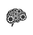 brain with gears icon isolated isolated on a vector image vector image