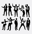Businessman success people silhouettes vector image vector image