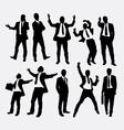 Businessman success people silhouettes