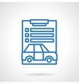 Car loan document blue line icon vector image