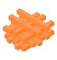 carrot slices icon isometric style vector image vector image