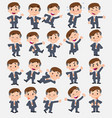 cartoon character businessman set with different vector image vector image
