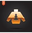 christmas icon vector image vector image