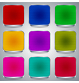 Colorful buttons collection vector image vector image