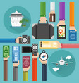 concept modern time to travel flat design i vector image vector image