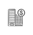 corporate business buildings hand drawn outline vector image