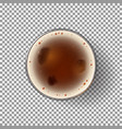 dark beer glass isolated on transparent backdrop vector image