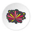 fireworks icon circle vector image vector image