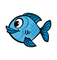 fish cartoon icon vector image vector image