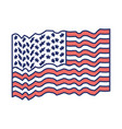 flag united states of america waving color vector image vector image
