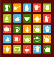 flat coffee tea set Coffee and tea time vector image vector image