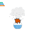 Flat design icon explosion of chemistry flask vector image vector image