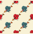 flower hit by arrow seamless pattern vector image vector image