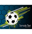 Football banner on a green background vector image vector image