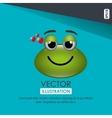 frog emoticon design vector image vector image