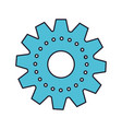 gear machinery colorful silhouette with thick vector image vector image