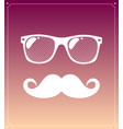 geek face hipster style set bowtie glasses and vector image