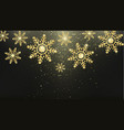 golden snowflakes new year and christmas magic vector image