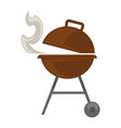 grill barbecue for bbq party picnic flat vector image vector image
