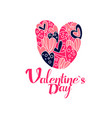 happy valentines day logo creative template for vector image