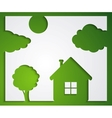 House tree cloud stickers vector image vector image