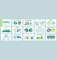 infographic charts for presentation business vector image vector image