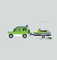 jet ski rickshaw vector image