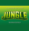 jungle text effect vector image vector image