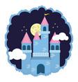 kingdom castle fantasy vector image