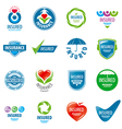 large set of logos insurance vector image vector image