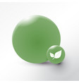 leaf icon on green circle background vector image vector image