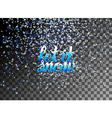 Let it snow lettering and falling particles on vector image vector image