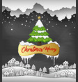 merry christmas and happy new year 2019 on black b vector image vector image