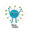 monster with funny inscription vector image