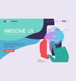 One page website kit for trendy technologies